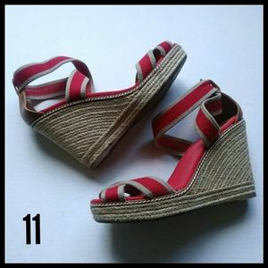 Tory Burch Adonis Espadrille Wedges. Size 11